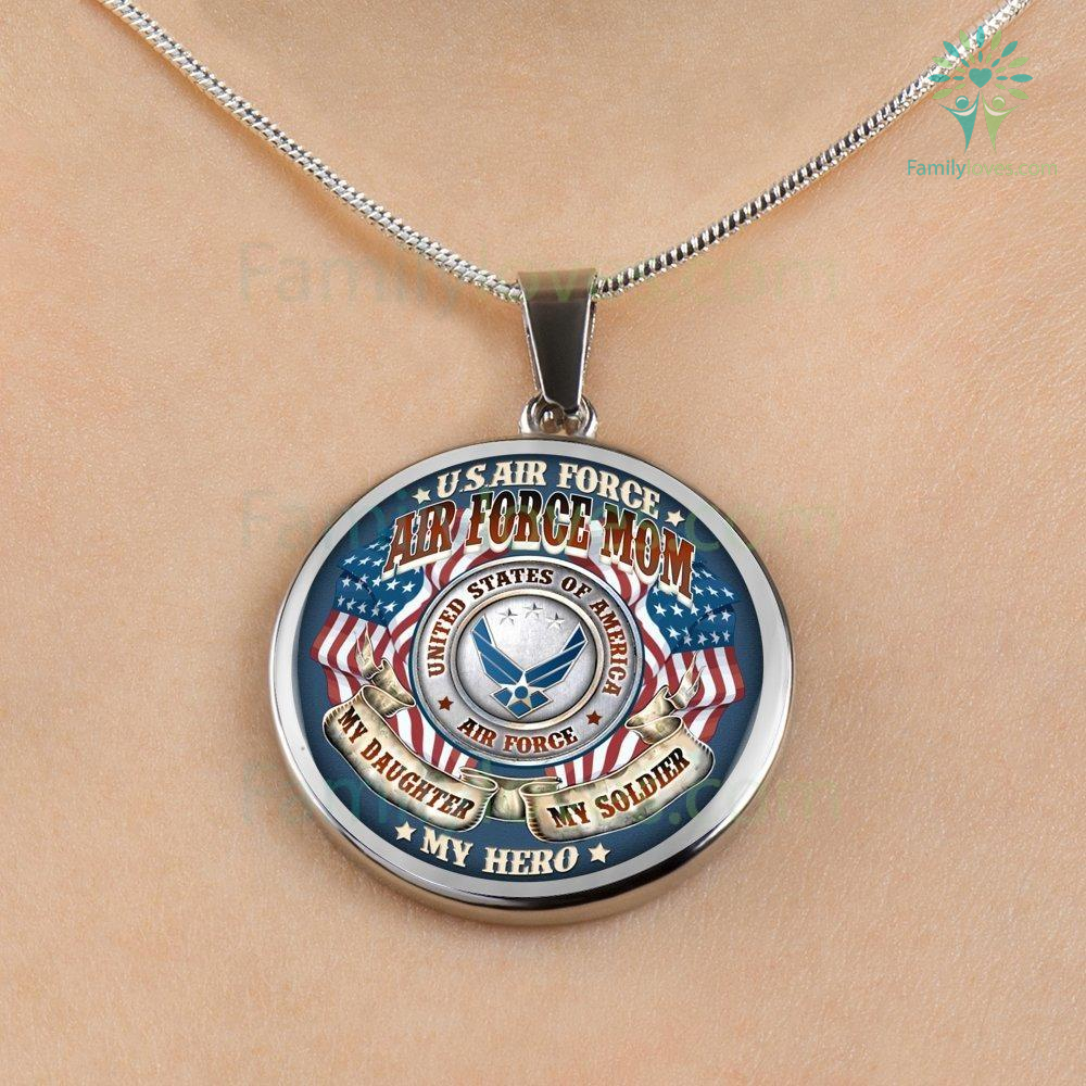air-force-mom_58777b98-843b-66f0-8c6b-b578607e9184 AIR FORCE MOM MY DAUGHTER MY SOLDIER MY HERO LUXURY NECKLACE  %tag