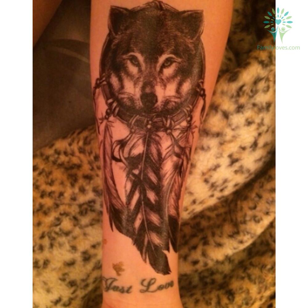 black-women-men_a563e4ff-a47c-3afe-a895-c5ee1d8a081c Black Women Men 3D Body Art Wolf Dreamcatcher native american 14.8*21cm tattoo  %tag