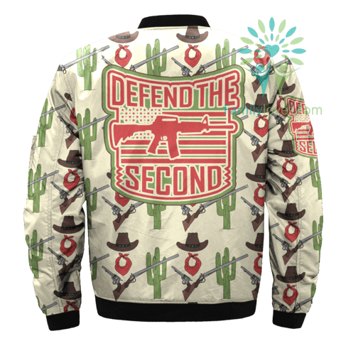 defend-the-second_319269fc-73f3-7c7f-c0fc-979ccdc15d47 DEFEND THE SECOND over print Bomber jacket  %tag