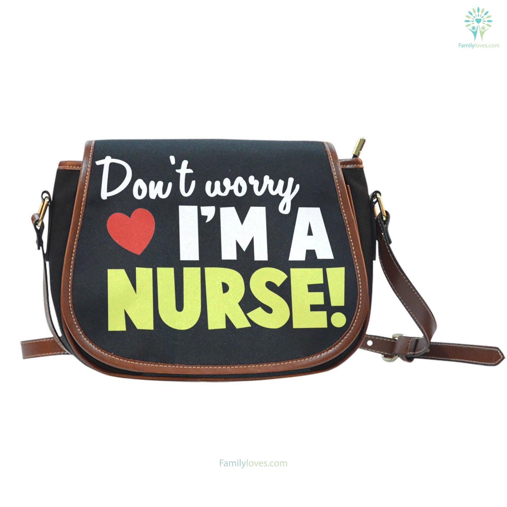 don-t-worry_61a13b54-2873-593d-c597-5c90811d0ee4 Don't worry i'm a nurse Saddle Bag  %tag