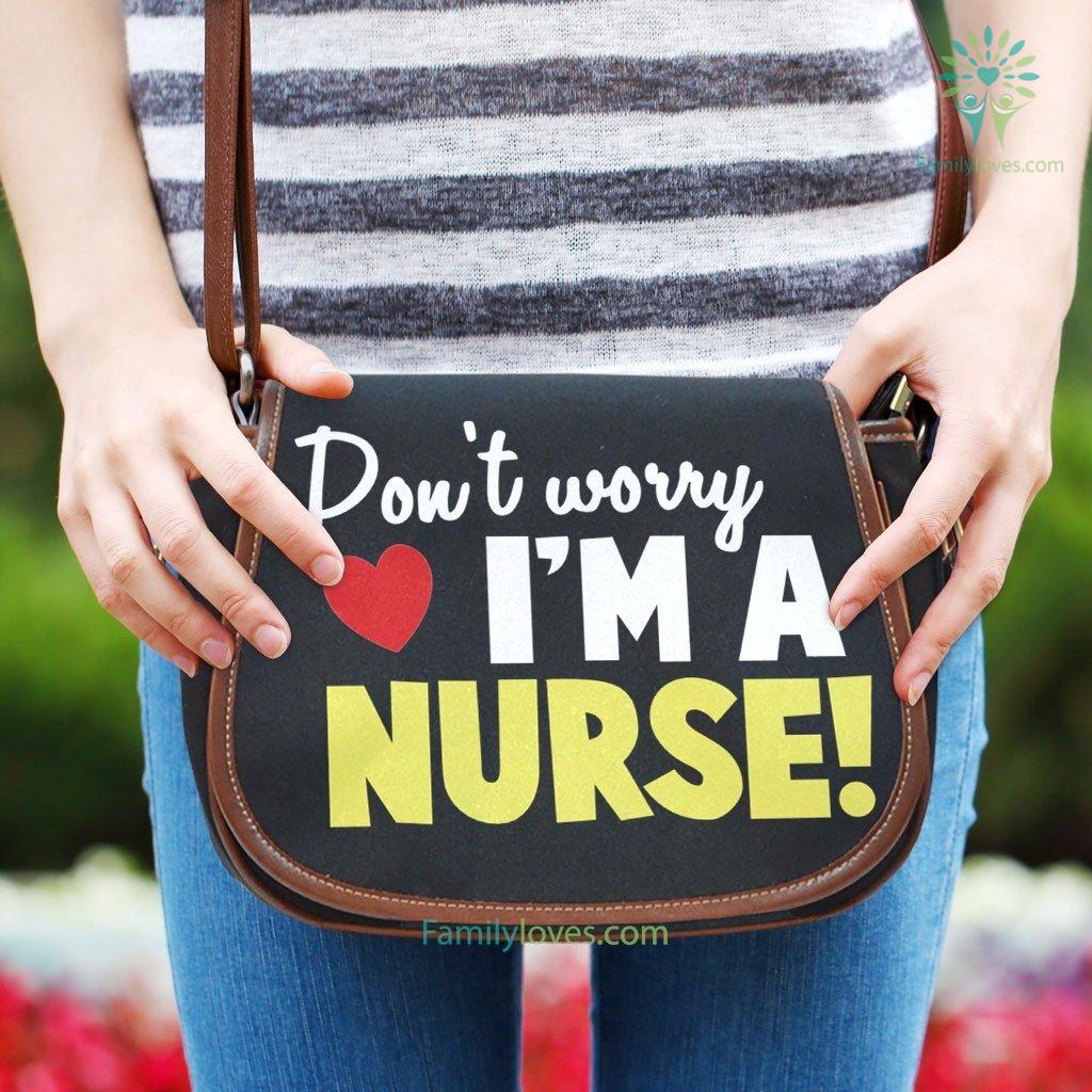 don-t-worry_e4652d98-d83c-74fc-0049-38bc5a22e3fe Don't worry i'm a nurse Saddle Bag  %tag