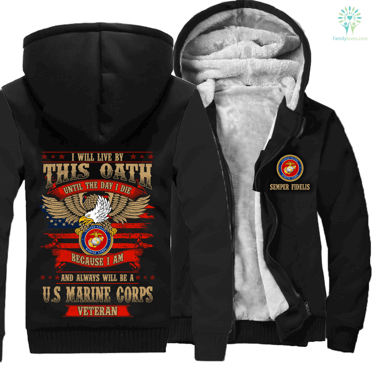 i-will-live_175d3a8c-cabc-6ba8-5a1e-cc67fe0575a8 I will live by this oath until the day I die because I am and always will be a U.S marine corps veteran hoodie  %tag