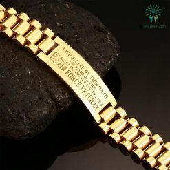 I will live by this oath until the day I die because I am and always will be a U.S Air Force veteran-men's bracelets Default Title %tag familyloves.com