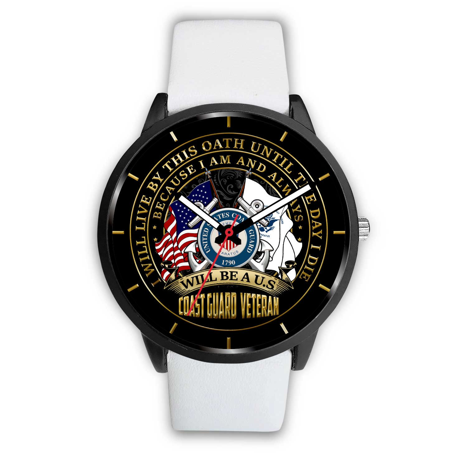 i-will-live_b9478cac-743b-5946-8ff4-6d1bce96350a I WILL LIVE BY THIS OATH UNTIL THE DAY I DIE BECAUSE I AM AND ALWAYS WILL BE A U.S COAST GUARD VETERAN WATCH  %tag