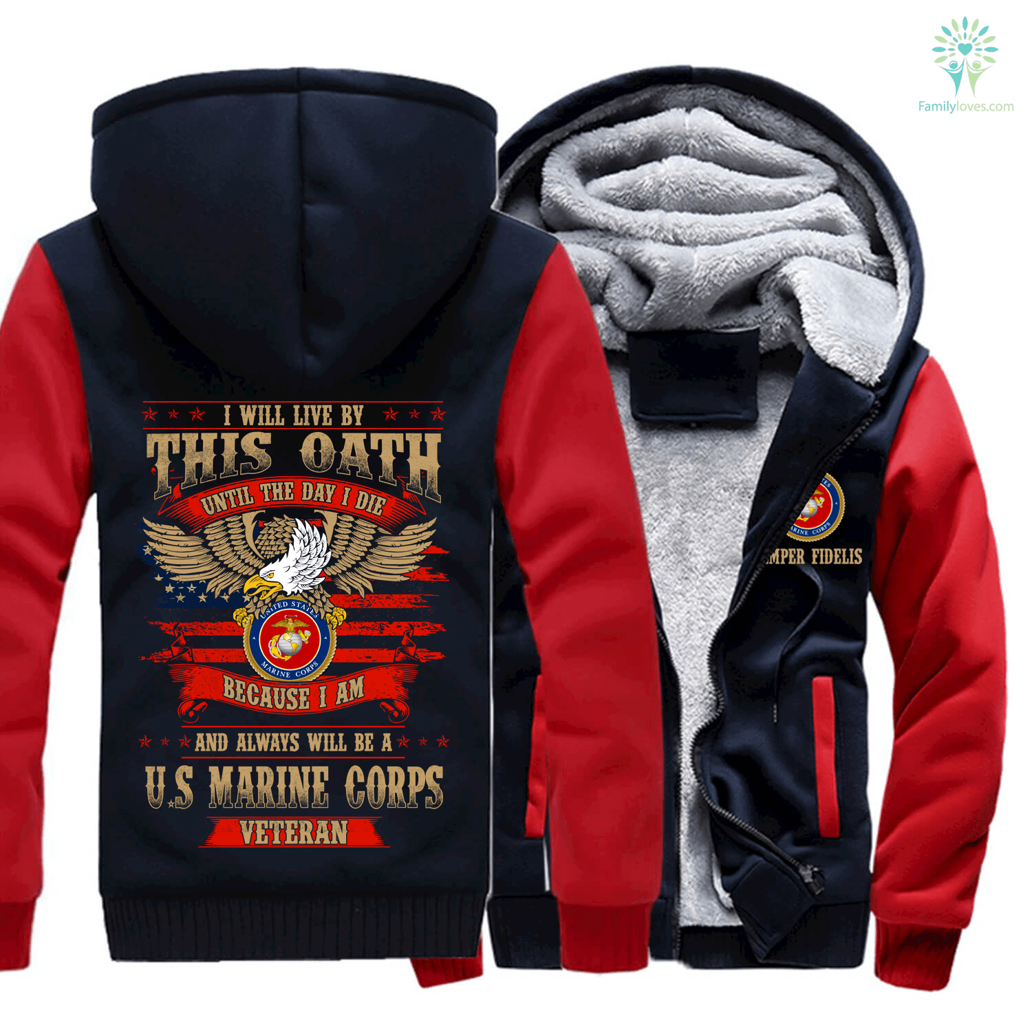 i-will-live_be5aaf4d-893b-530e-6091-1131f0c77a3b I will live by this oath until the day I die because I am and always will be a U.S marine corps veteran hoodie  %tag