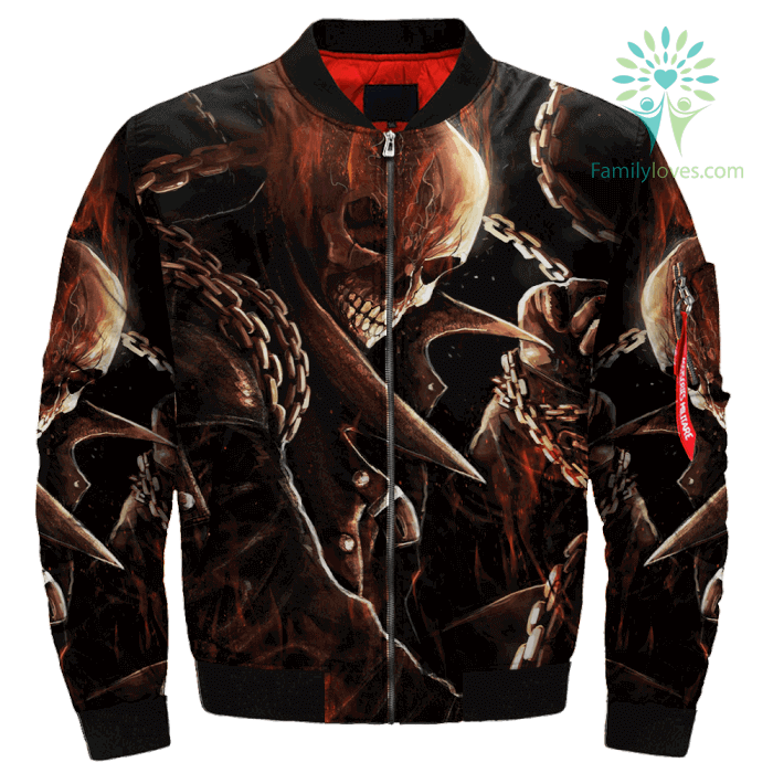 Ghost Rider Over Print Jacket Familyloves Com