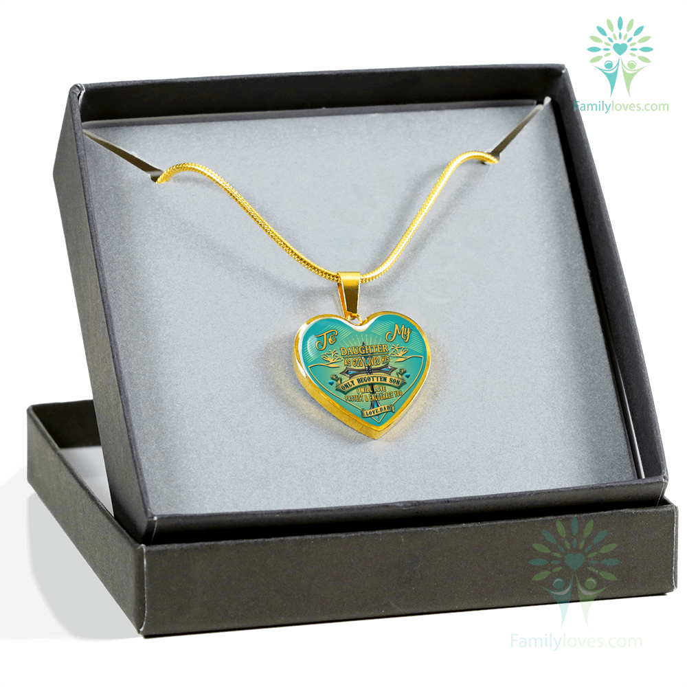to-my-daughter_00218f7c-96c4-f7db-0315-8b31ae23b757 To my Daughter as god loved his only begotten son i will love protect and encourage you Luxury Necklace & Bangle  %tag
