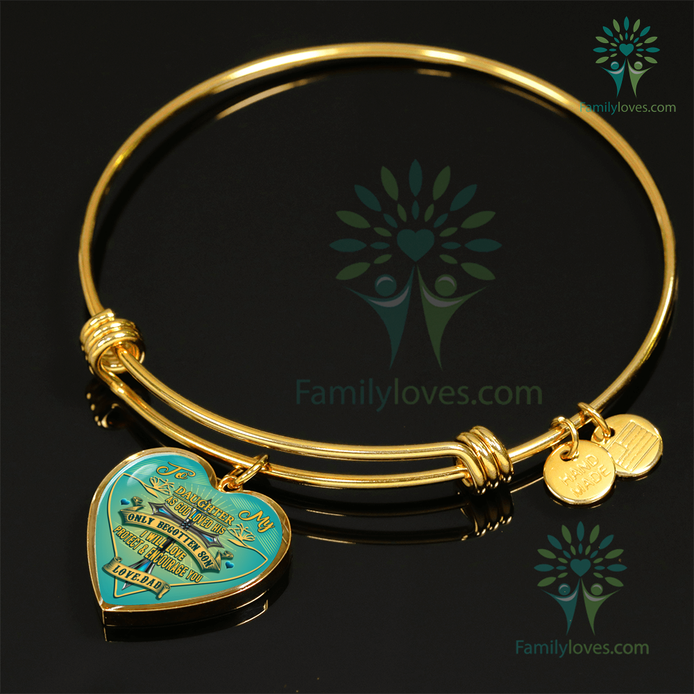 to-my-daughter_23943274-5edd-ae4b-6c3d-601da4fba5ed To my Daughter as god loved his only begotten son i will love protect and encourage you Luxury Necklace & Bangle  %tag