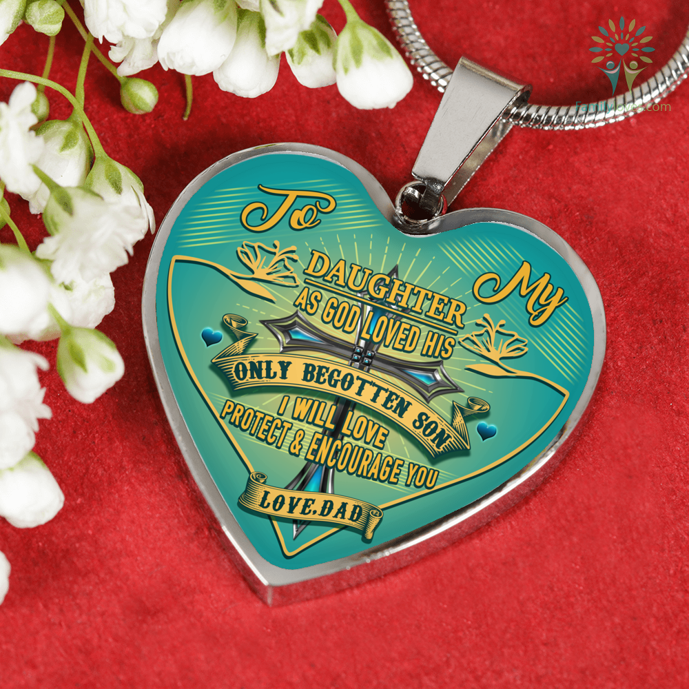 to-my-daughter_8bec2f25-85b5-fb72-61b2-bdf08f555f51 To my Daughter as god loved his only begotten son i will love protect and encourage you Luxury Necklace & Bangle  %tag