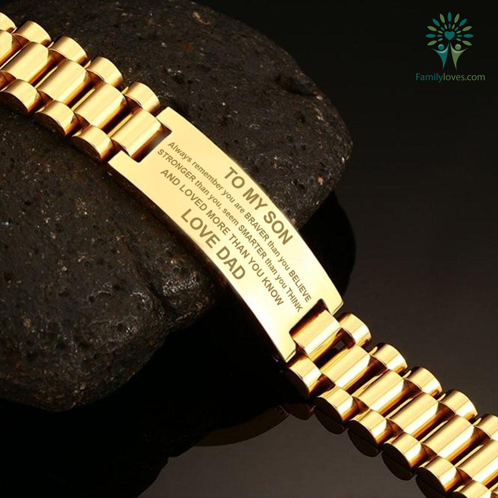 To My Son Always Remember You Are Braver Men Bracelets