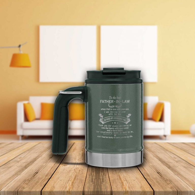 To The Best Father In Law....... I Feel So Lucky To Have You In My Life_Stanley Classic Vacuum Camp Mug %tag familyloves.com