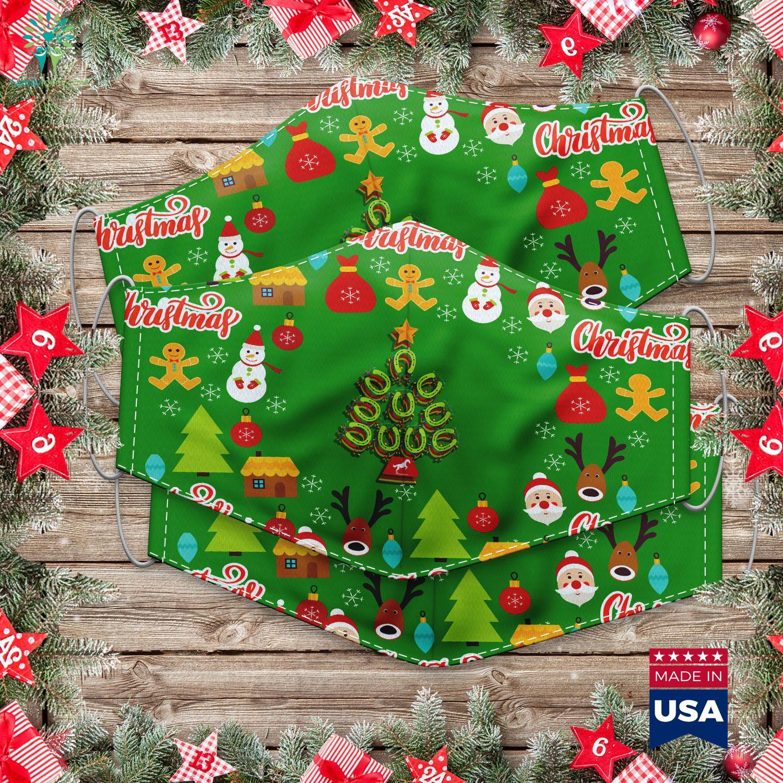 Christmas Bulletin Board Ideas Womens Horseshoe Christmas Tree Cloth Face Mask Gift Familyloves Com